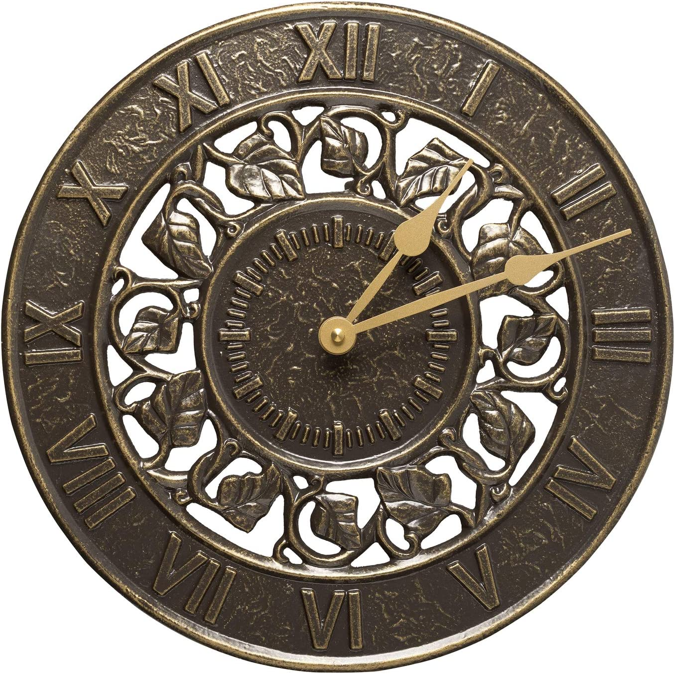 A picture of Whitehall Products Ivy Silhouette Clock to better look into Best outdoor clocks 2020