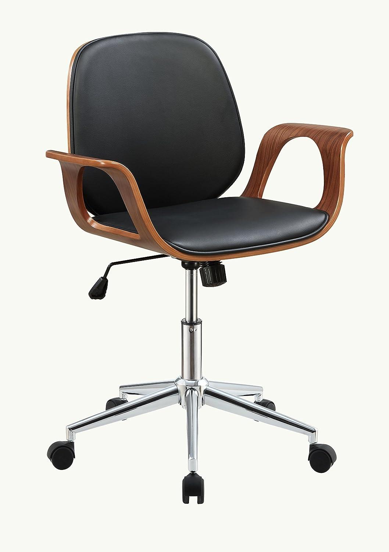 ACME Furniture 92419 Carmen Office Chair, Black PU/Walnut