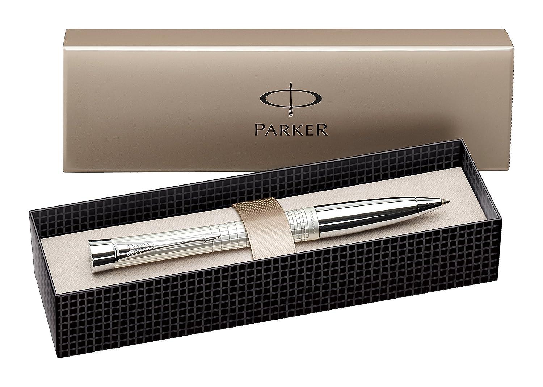 Parker Urban Chrome Trim Ballpoint Pen with Medium Nib - Fashion Black, Gift Boxed Newell Rubbermaid S0767130