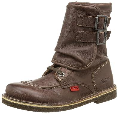 Chaussures femme bottes Doublure chaude cuir bottes marron foncé 38 UOcImHmKmY