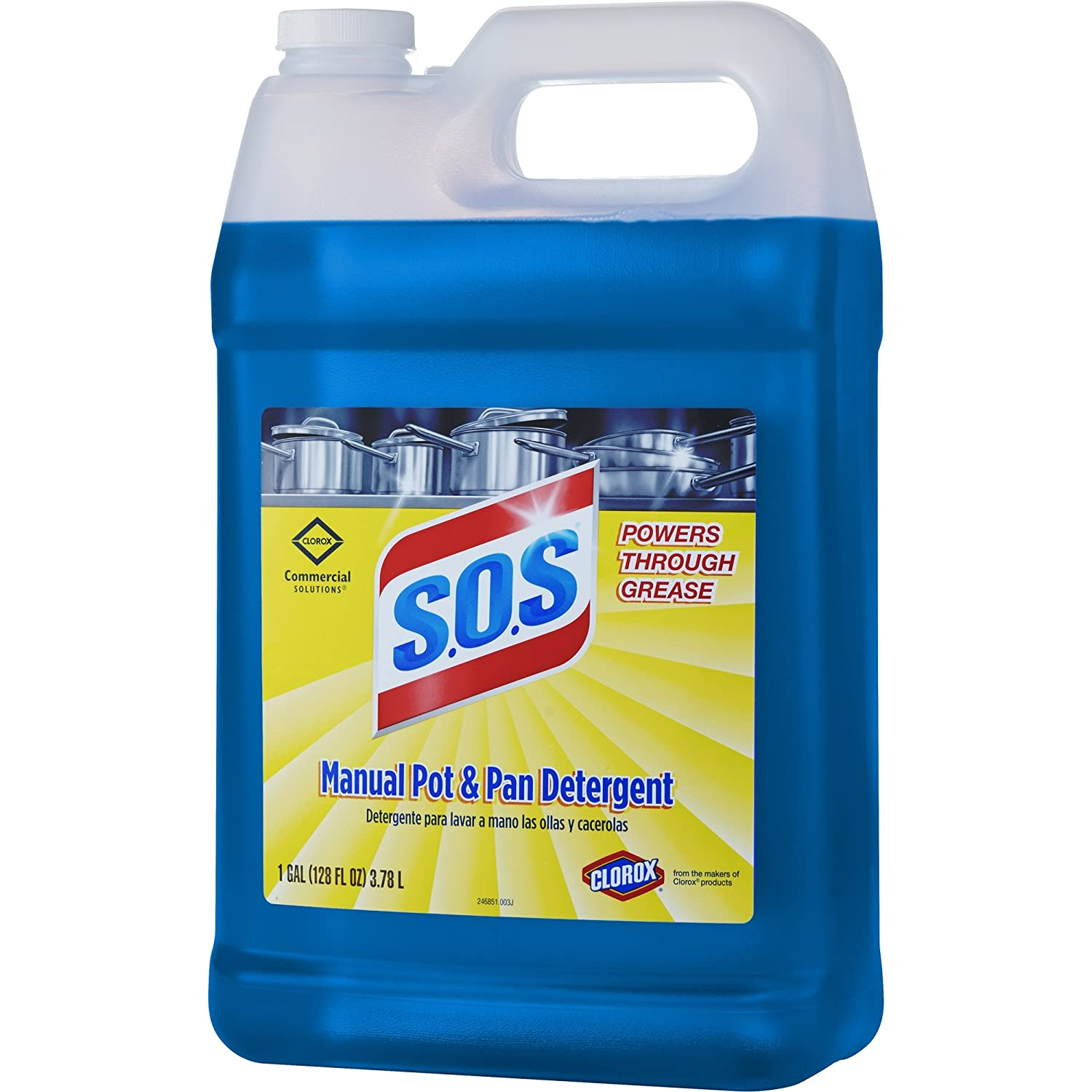 S.O.S Manual Pot and Pan Detergent Liquid, 128 Ounces (31742): Amazon.com: Industrial & Scientific