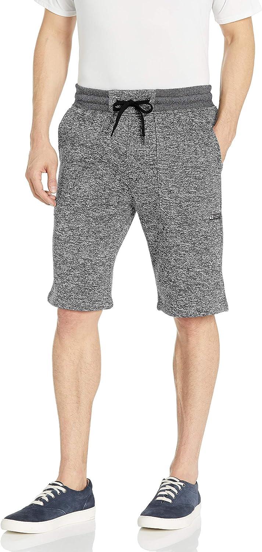Southpole Mens Basic Marled Fleece Shorts