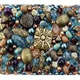 Bronze Brown Tibetan Ethnic Jade Jewellery Making Beads Mix Set
