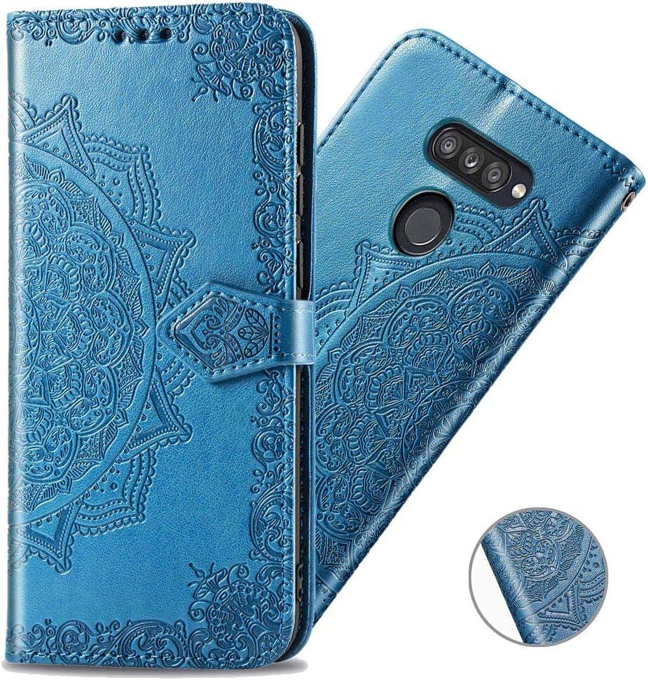 funda estilo billetera magnetica mandala lg k50s azul