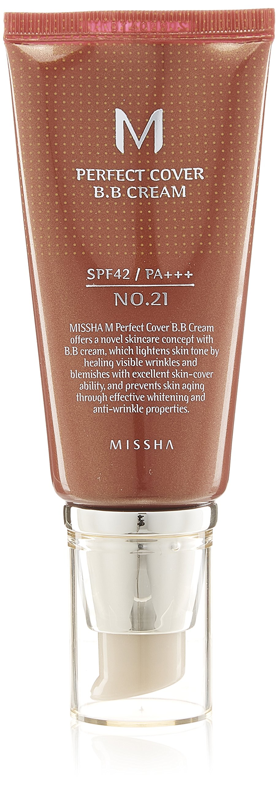 MISSHA M Perfect Cover BB Cream SPF42/PA (No.21/Light Beige) 50ml, 1er Pack product image