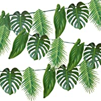Talking Tables Supplies Birthday Tropical Fiesta Leaf Garland Party Decorations, Length 1.5M, 5ft, PALM BANNER