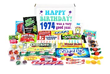 Woodstock Candy 1974 45th Birthday Gift Box Of Nostalgic Retro From Childhood For 45