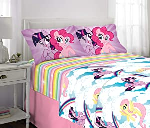 Franco Kids Bedding Super Soft Microfiber Sheet Set, 4 Piece Full Size, My Little Pony