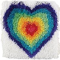 "Spinrite Wonderart Shaggy Kit de Ganchillo, diseño de Perro, from The Heart, 12"" x 12"", 1"
