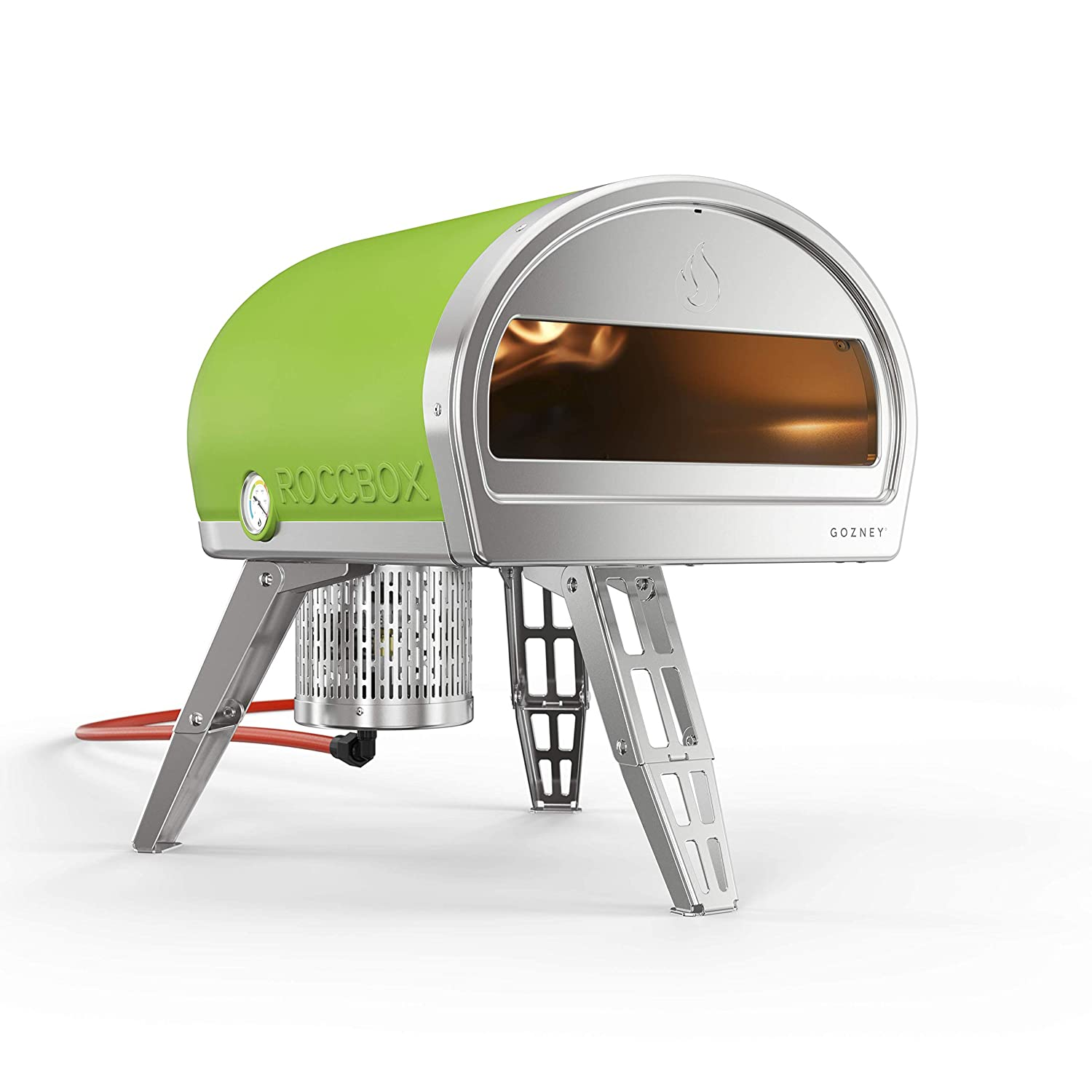 ROCCBOX Portable Outdoor Pizza Oven - Gas or Wood Fired, Dual-Fuel, Fire & Stone Outdoor Pizza Oven - Green