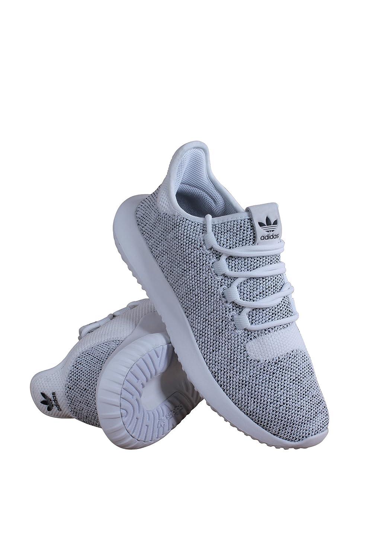 80734436c613 adidas BY2221 Grade School Tubular Shadow Knit J White Black  Amazon.co.uk   Shoes   Bags
