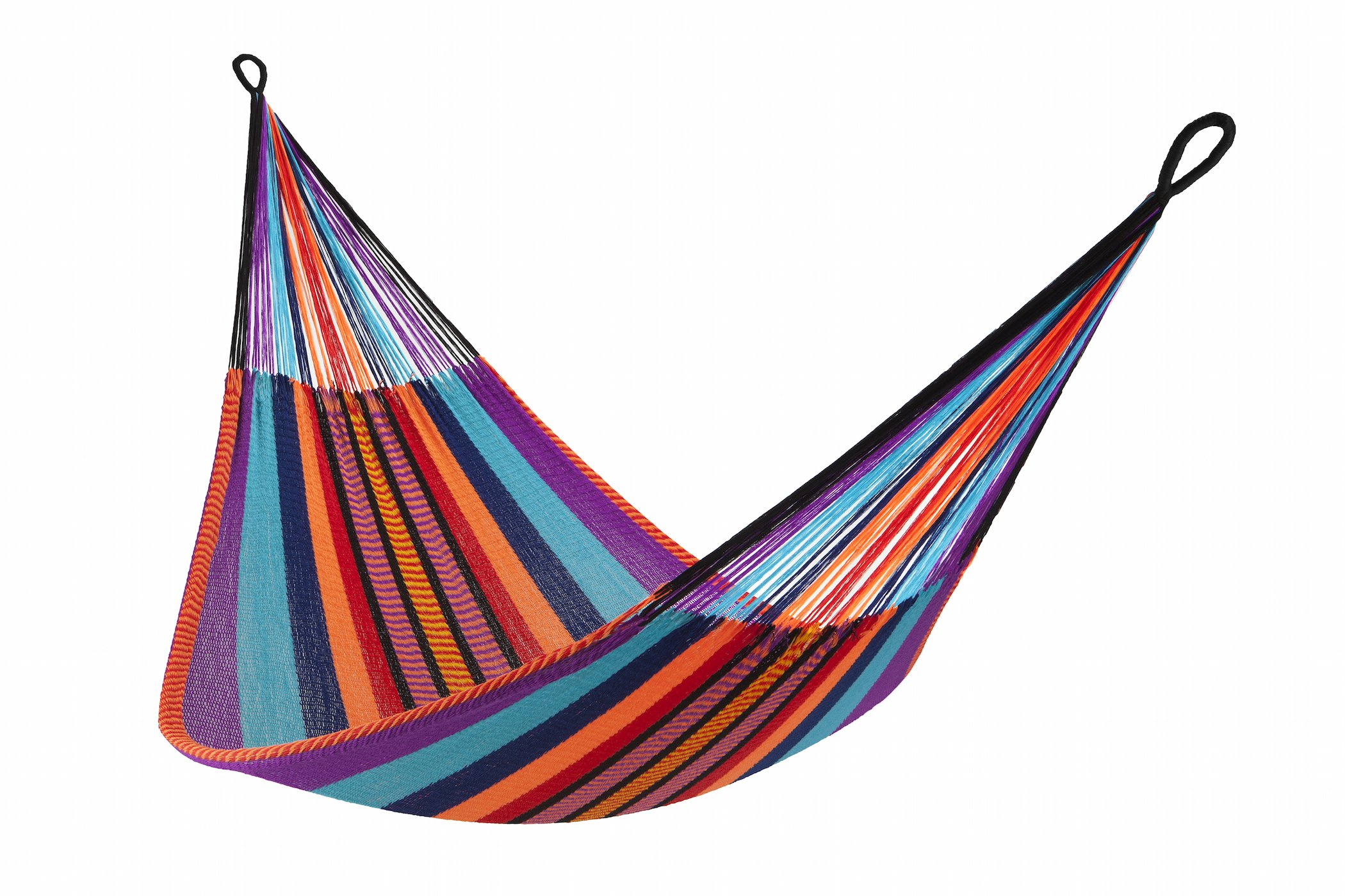 Yellow Leaf Hammocks TJ Hammock, Classic Double, Kokomo - 100% hand-woven with over 3.5 miles of yarn Maximum Capacity: 400 lbs Optimal Hanging Distance: 9-12 ft//Optimal Hanging Height: 4-6 ft - patio-furniture, patio, hammocks - 81p2pPCBG8L -