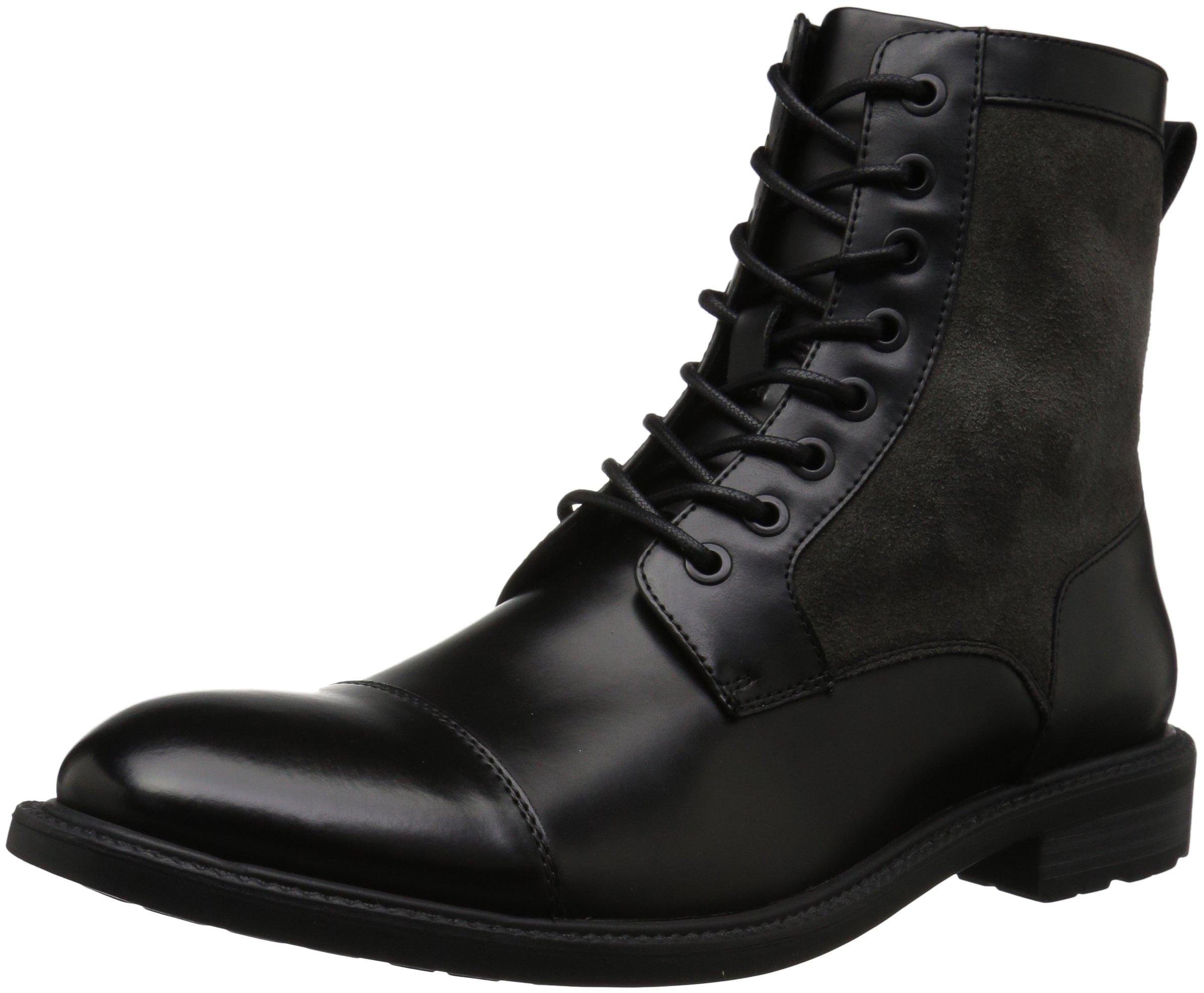 Kenneth Cole REACTION Men's Design 20655 Combat Boot, Black/Grey, 11 M US