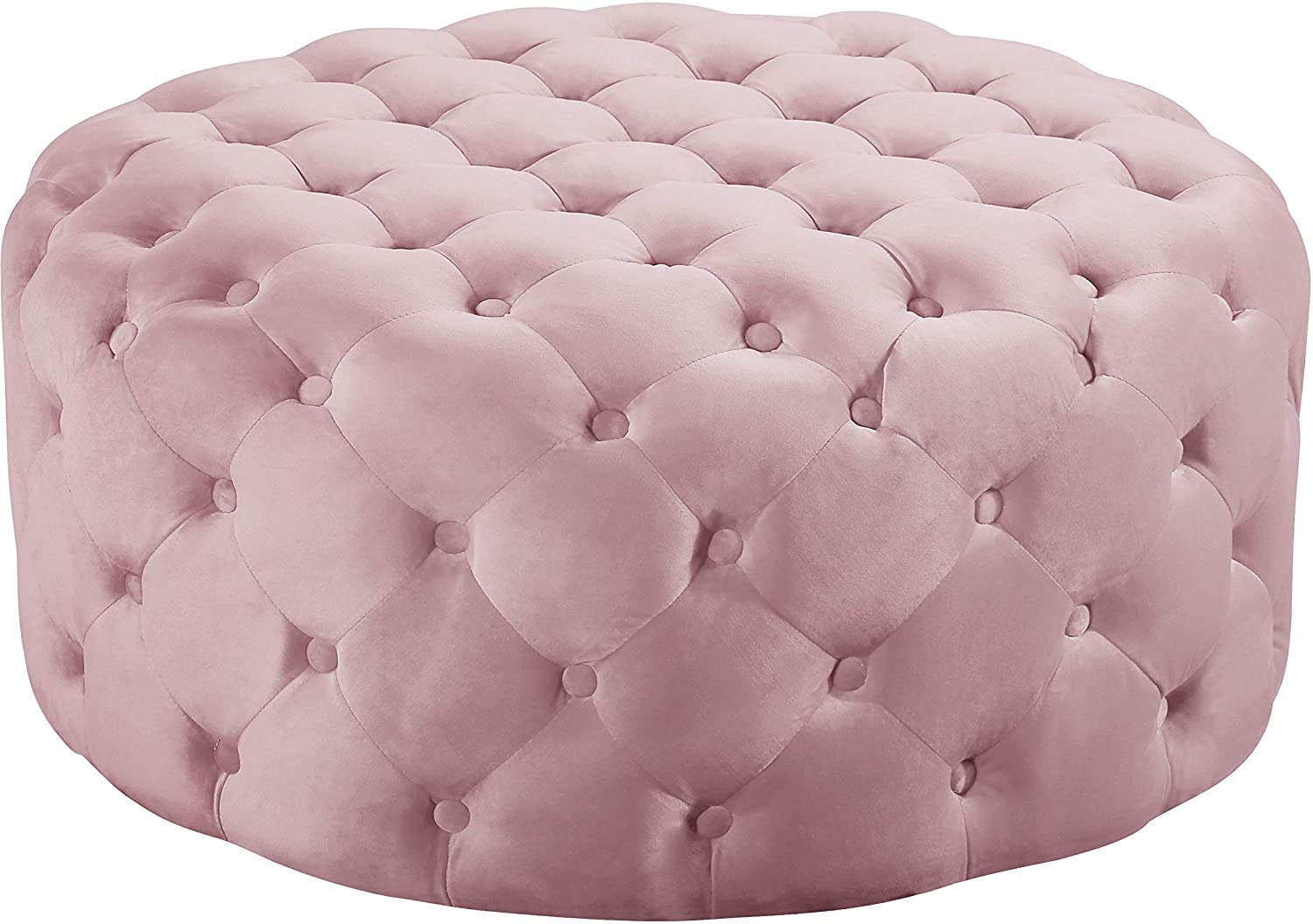Prime Meridian Furniture 122Pink Addison Collection Modern Contemporary Pink Velvet Upholstered Ottoman Bench With Deep Button Tufting Solid Wood Frame Evergreenethics Interior Chair Design Evergreenethicsorg