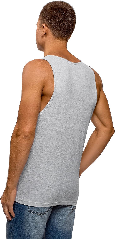 oodji Ultra Mens Printed Cotton Tank Top
