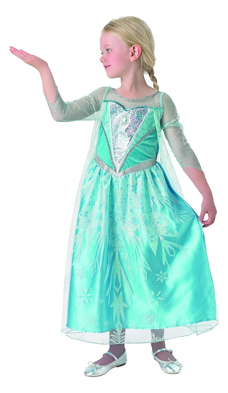Frozen - Disfraz de princesa Elsa Deluxe para niña con capa ...