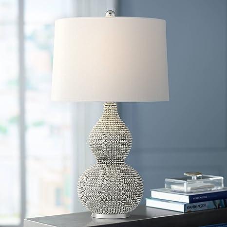 Wondrous Lulu Modern Table Lamp Double Gourd Chrome Crisp White Shade Download Free Architecture Designs Grimeyleaguecom