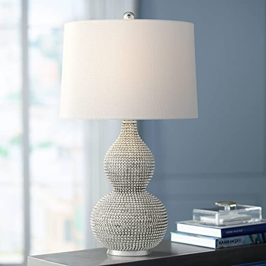 Amazon.com: Lulu cromo doble calabaza de lámpara de mesa ...
