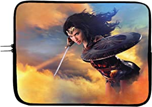 Wonder Woman Superhero Laptop Sleeve Bag 15 Inch with Mousepad Surface - Protect Your Device in Style Superhero Computer Bag Laptop/Tablet Sleeve Protector