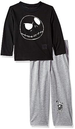 b79e87741 Disney Boys' Little Nightmare Before Christmas 2-Piece Pajama Set,  Skellington Black,