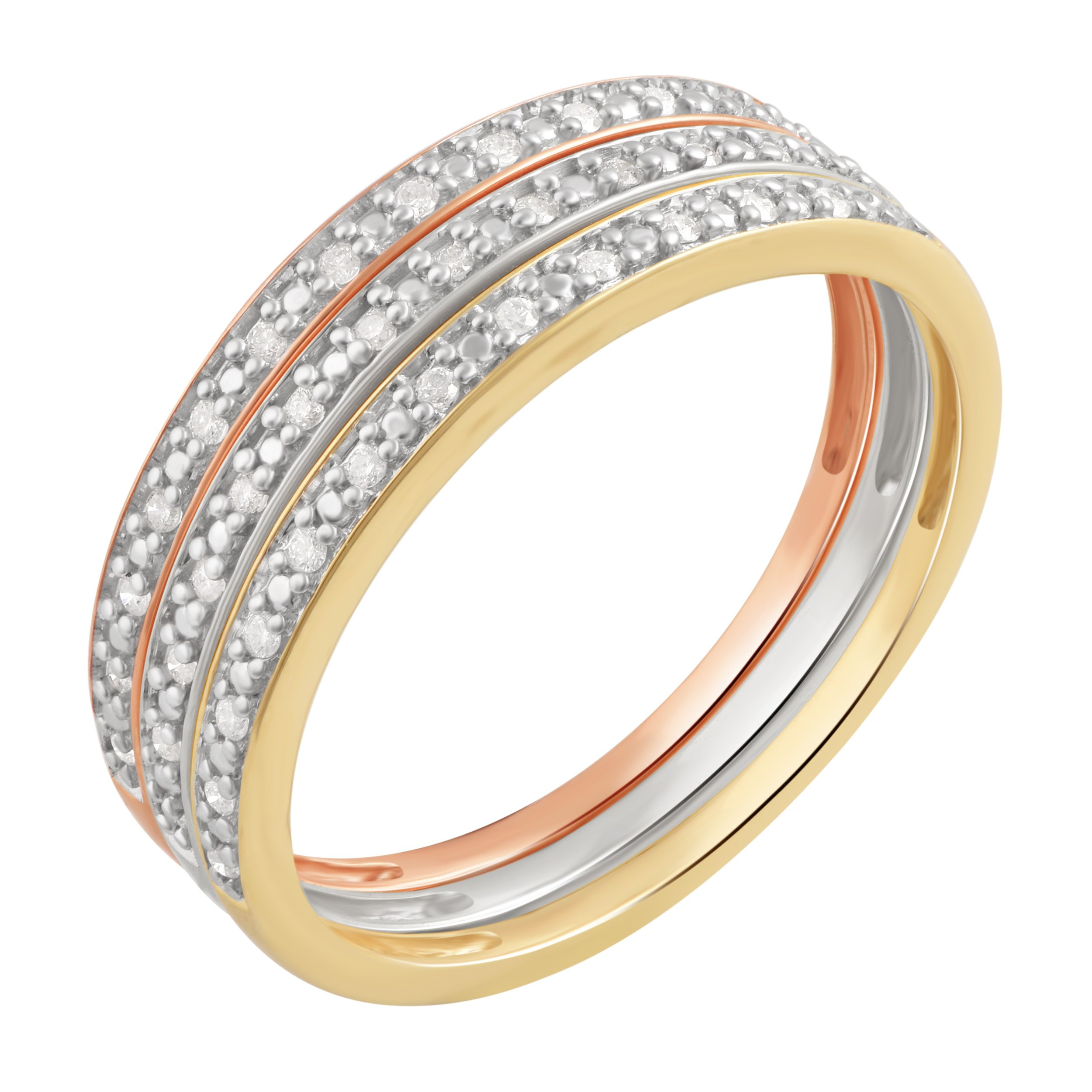 1/6 Ctttw Stackable Round Diamond Band in 10K Gold