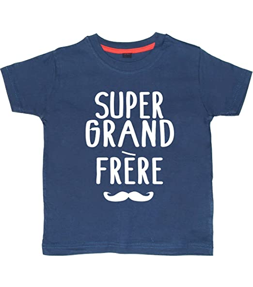 Super Grand FRERE' 5-6 Ans Tee Shirt Marine