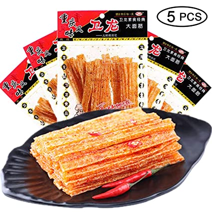 Amazon com : WEI LONG Chinese Special Spicy Snack Food: Spicy Gluten