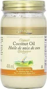 Spectrum Coconut Oil, Organic Refined, 414 gm