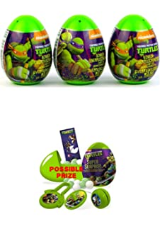 Three new Teenage Mutant Ninja Turtles surprise eggs with toy, candy sticker! As seen