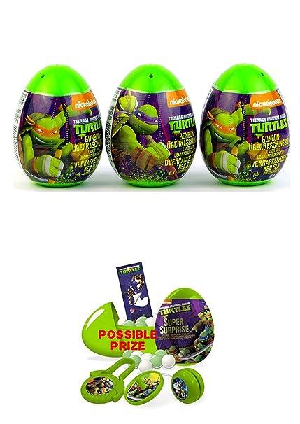 822c168fcd8 Amazon.com  Three new Teenage Mutant Ninja Turtles surprise eggs with toy