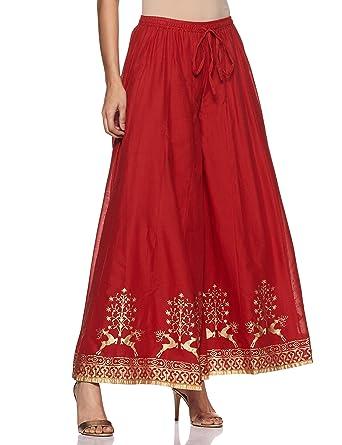 cdaf81438e Biba Women's Red Cotton Palazzo Size S at Amazon Women's Clothing store: