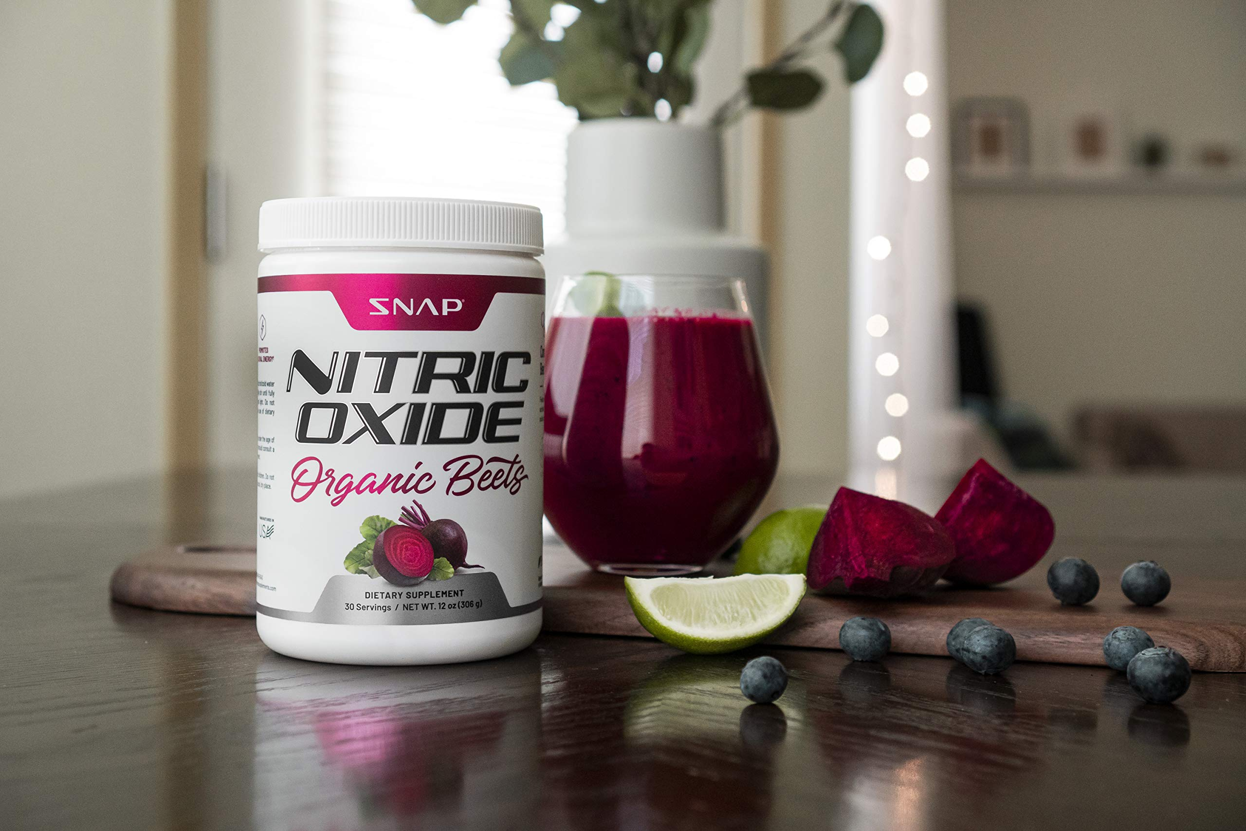 Beet Juice Powder (Organic) Nitric Oxide by Snap Supplements - Blood Flow and Circulation Superfood, Muscle & Heart Health - BCAAs. L Arginine, L Citrulline - 306 Grams! by Snap Supplements (Image #4)