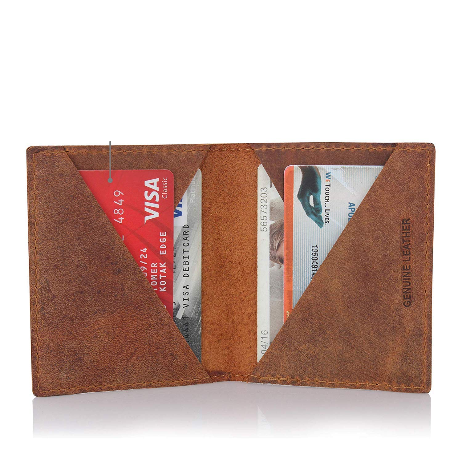 STYLER KING Mens Genuine Leather Wallet Credit Card Holder Wallet Multi Card High Capacity Bifold Wallet-Gift Box
