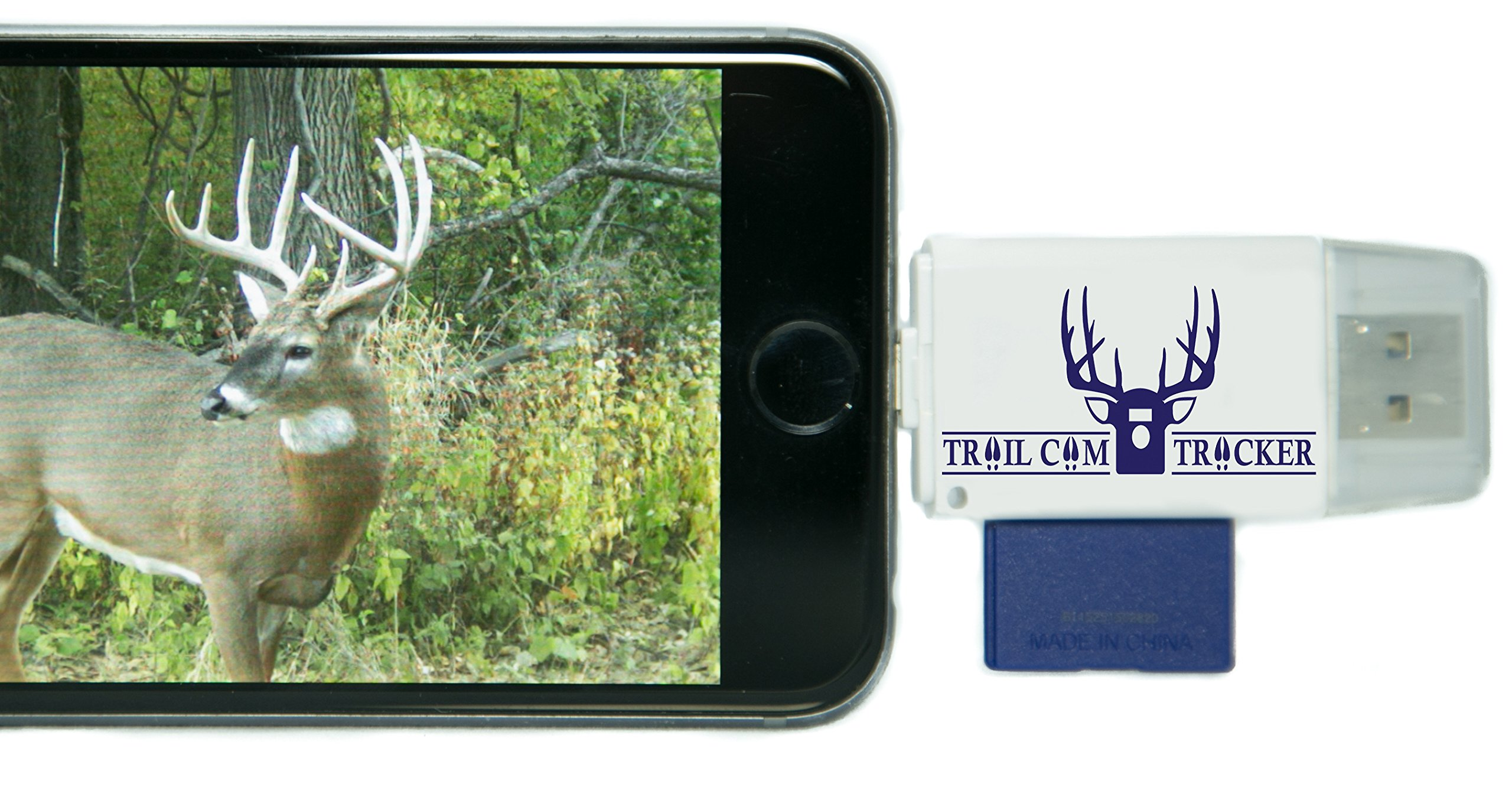 Trail Cam Tracker SD Card Reader for iPhone & Android – Best & Fastest Game Camera Viewer – Deer Hunting Smartphone…