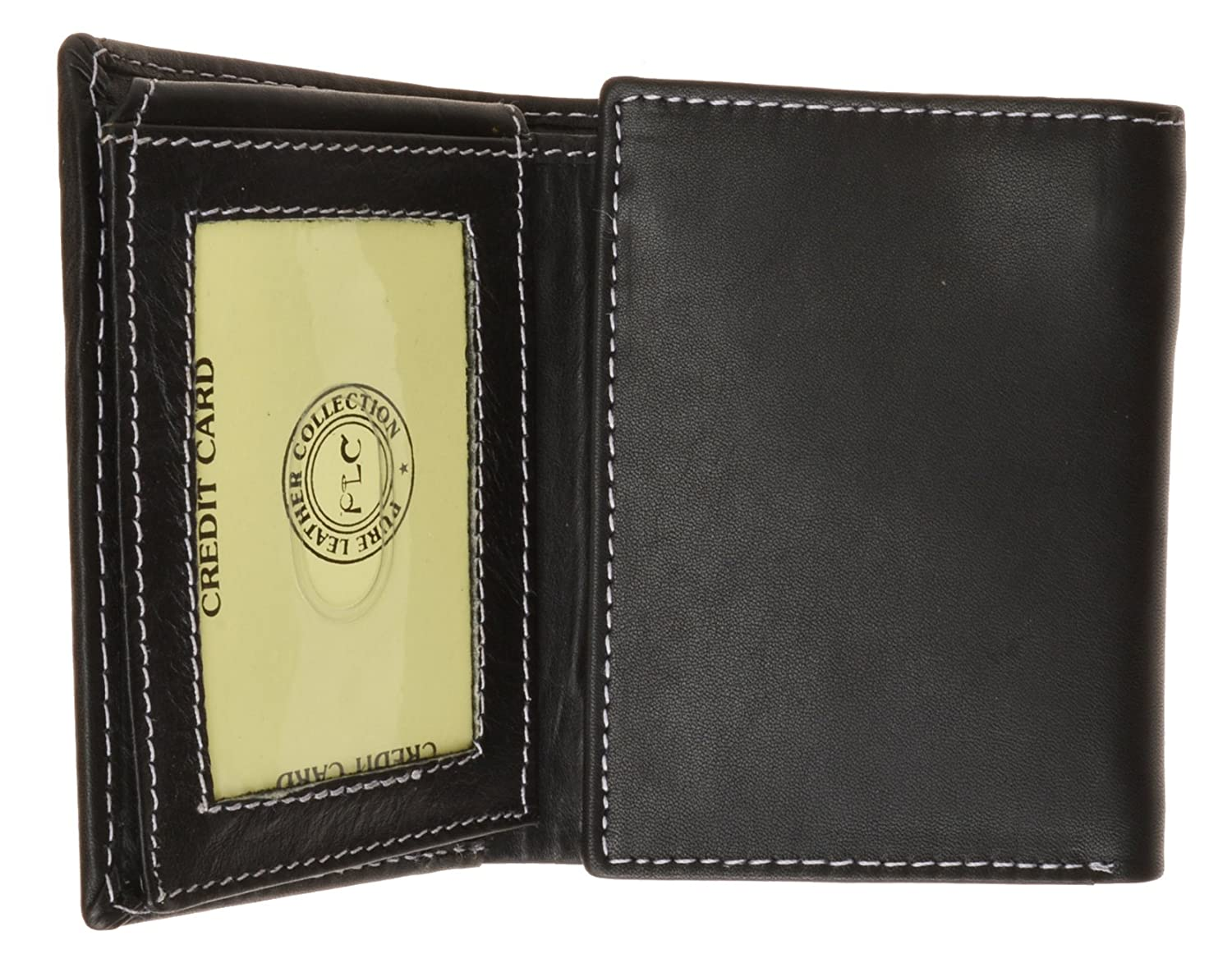 Classic Look Tri-fold Premium Leather Mens Wallet Credit Card Slot Genuine Leather