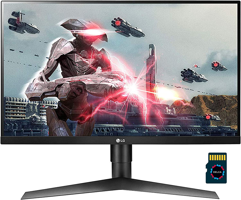 "LG 27 2020 Premium Monitor I LG Ultragear 27"" Full HD (1920 x 1080) 144Hz IPS Anti-Glare Gaming Monitor 1ms MBR 16:9 Aspect Ratio with NVIDIAG-Sync Compatibility HDMI + Delca 16GB Micro SD Card"