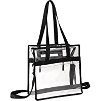 Clear Bag Stadium Approved Tote with Handles Double Zippers Adjustable Shoulder Straps Transparent for Men, Women and…