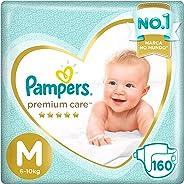 Fralda Pampers Premium Care Pacote Mensal, M, 160 unidades