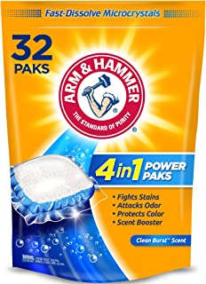 product image for Arm & Hammer 4-in-1 Laundry Detergent Power Paks, 32 Count (Packaging may vary)