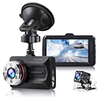 "TOGUARD Dual Dash Cam Full HD 1080P 170° Wide Angle 3.0"" Front and Rear Car Camera Video Recorder with Night Vision WDR G-sensor Parking Monitor Loop Recording Motion Detection"