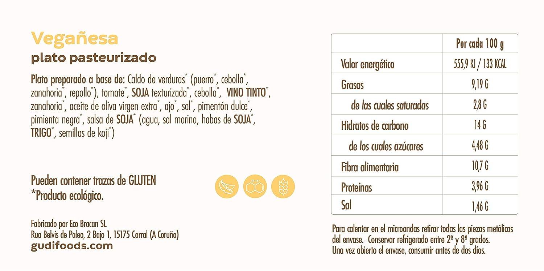 GUDI 6-Pack Vegano Eco 1600 g (1 Ensaladilla vegetal + 1 Medallón soja + 1 Bocaditos soja + 1 Vegañesa + 1 Ajonesa + 1 Arroz con leche de almendras): ...
