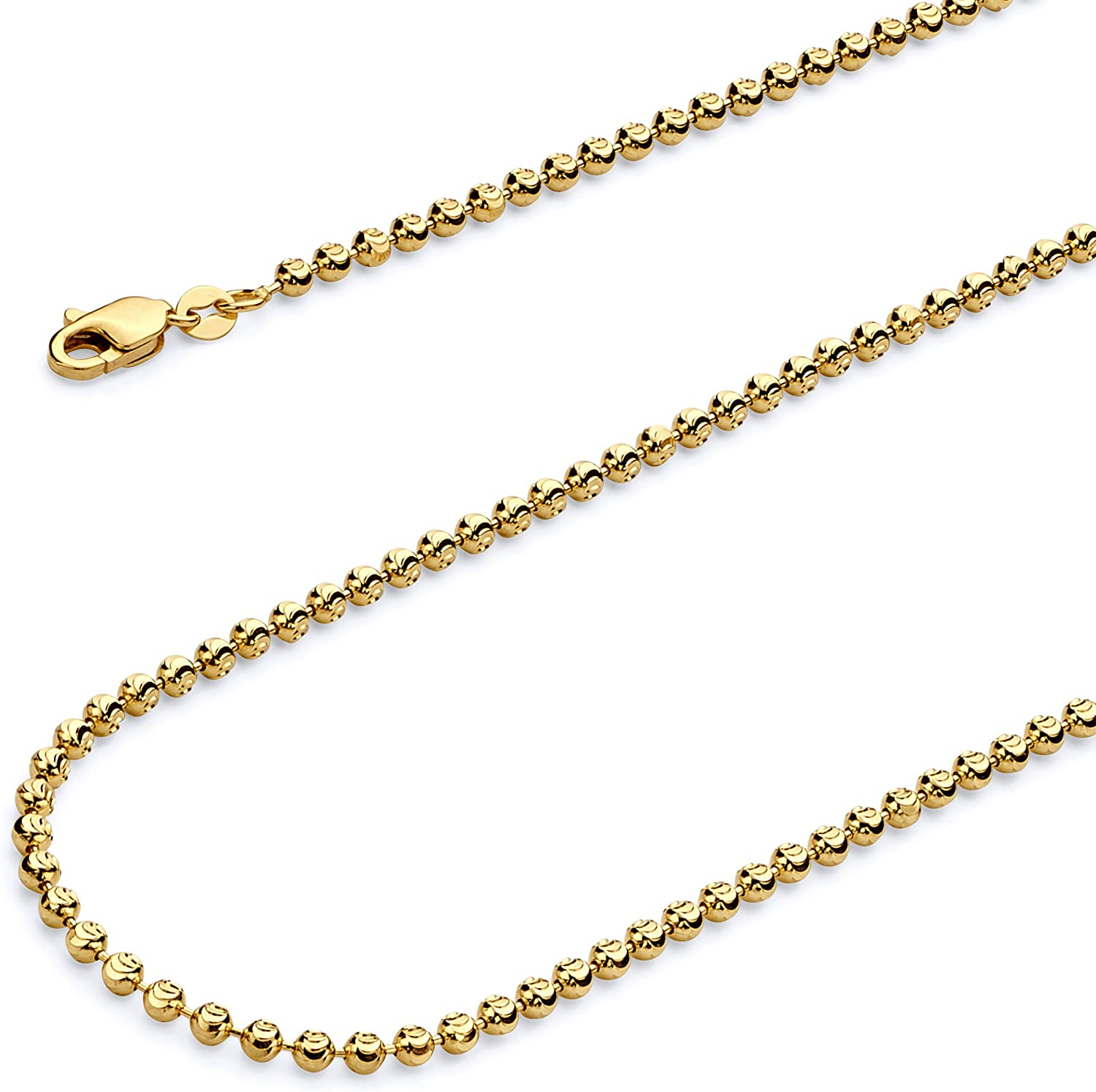 Wellingsale 14k Yellow Gold Polished 2.5mm Heart ID Figaro Bracelet with Lobster Claw Clasp 6