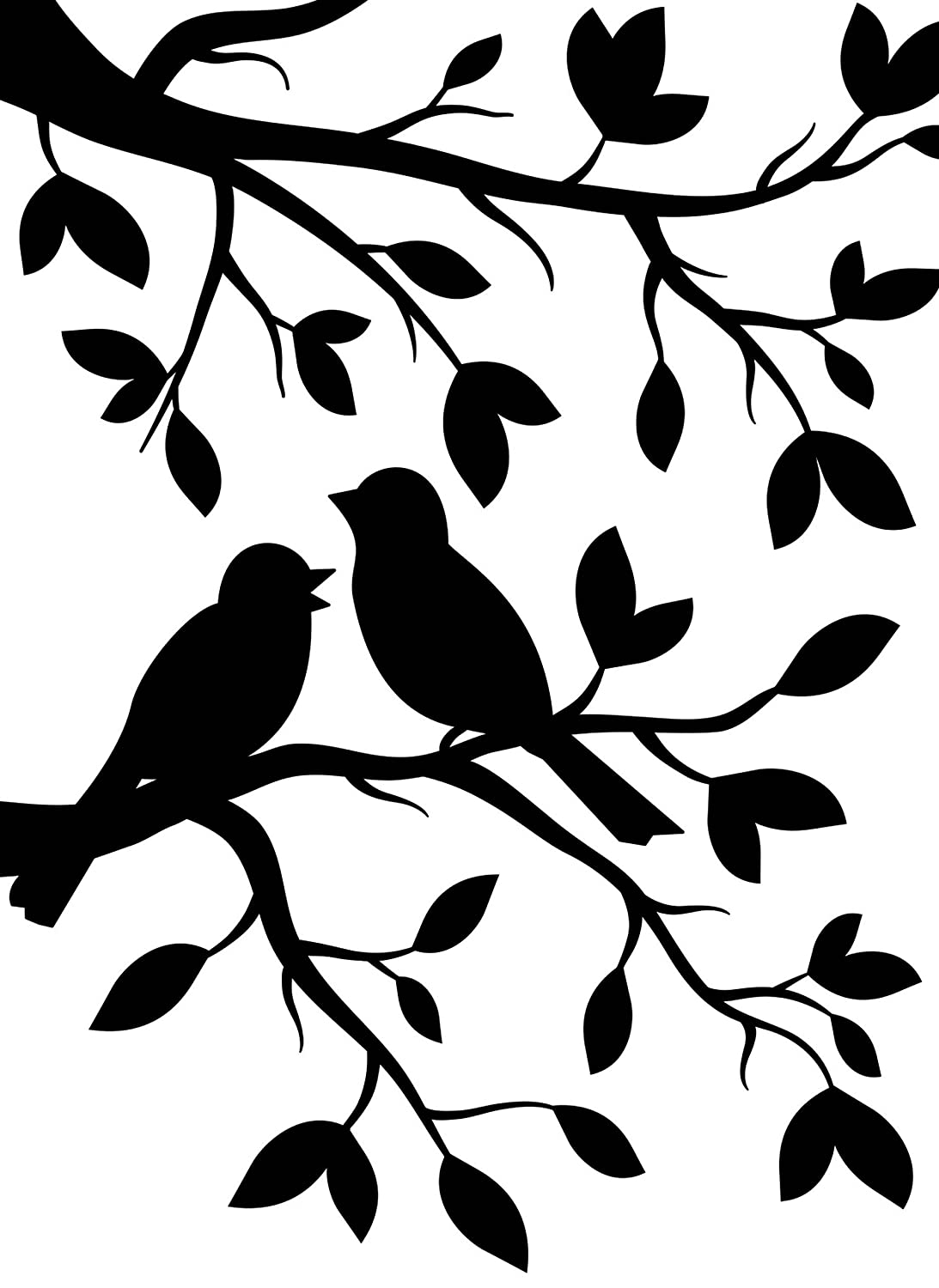 Darice Birds Branch Embossing Template, Transparent, 10.8 x 14.6 cm EB12-19102