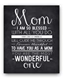Amazon Price History for:Mom Quote Chalkboard Wall Art Print, the perfect Mother's Day Gift or Gift for Mom