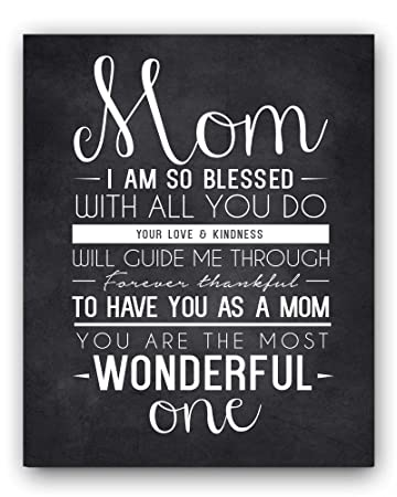 Amazoncom Mom Quote Chalkboard Unique Mom Gift Mom Quote Sign
