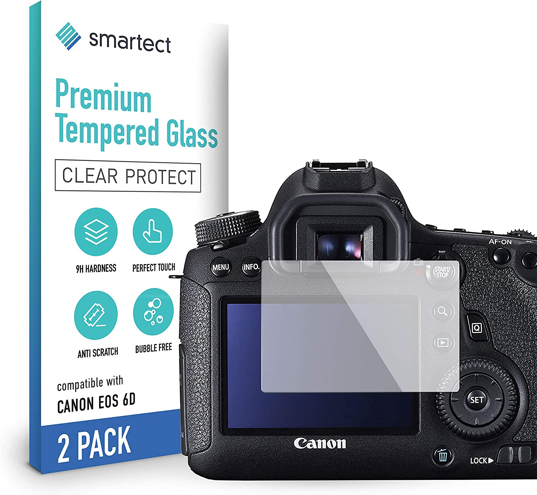 Smartect Schutzglas Kompatibel Mit Canon Eos 6d 2 Stück Tempered Glass Mit 9h Härte Blasenfreie Schutzfolie Anti Kratzer Displayschutzfolie Elektronik