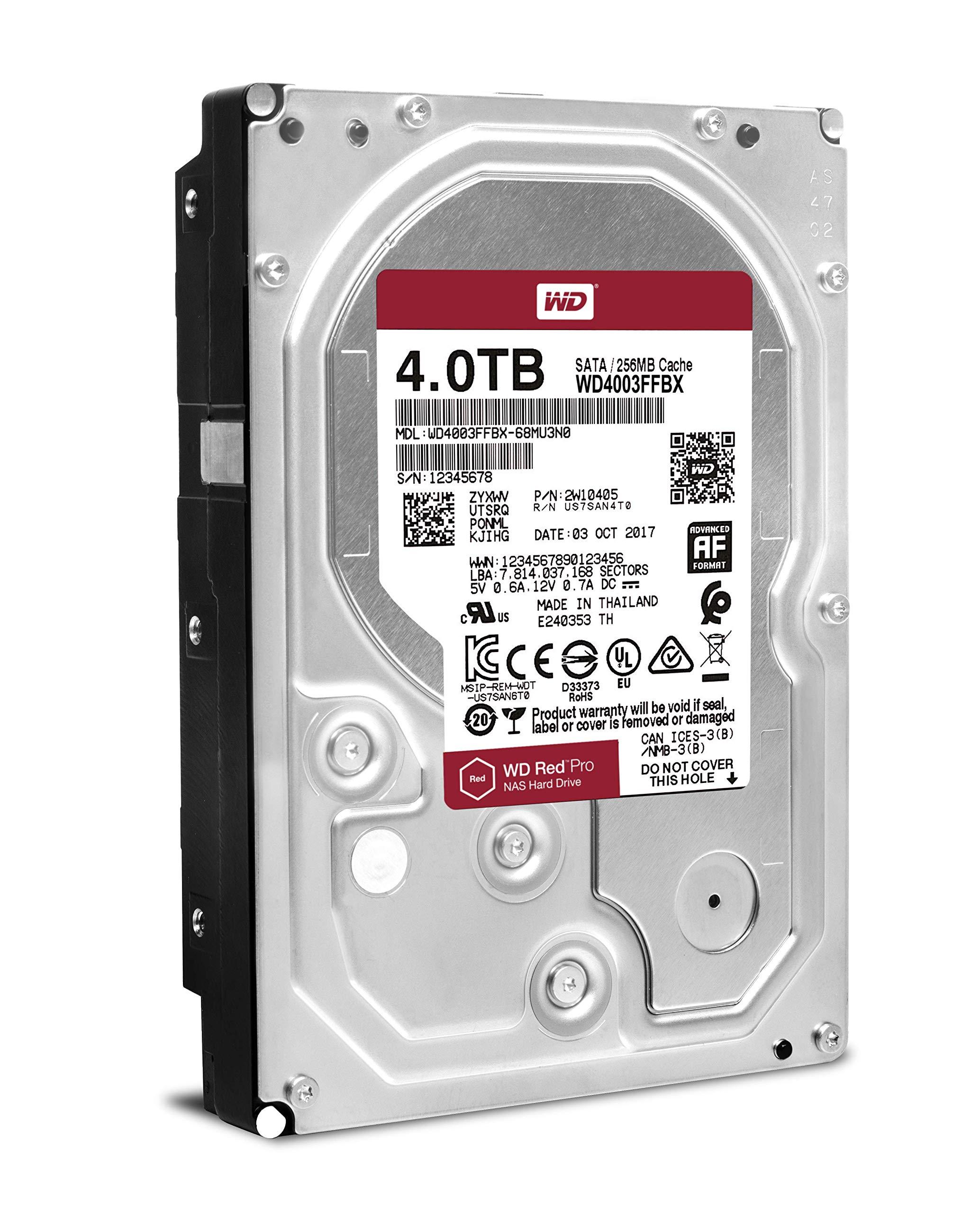 WD Red Pro 4TB NAS Internal Hard Drive - 7200 RPM Class, SATA 6 Gb/s, 256 MB Cache, 3.5'' - WD4003FFBX by Western Digital (Image #4)