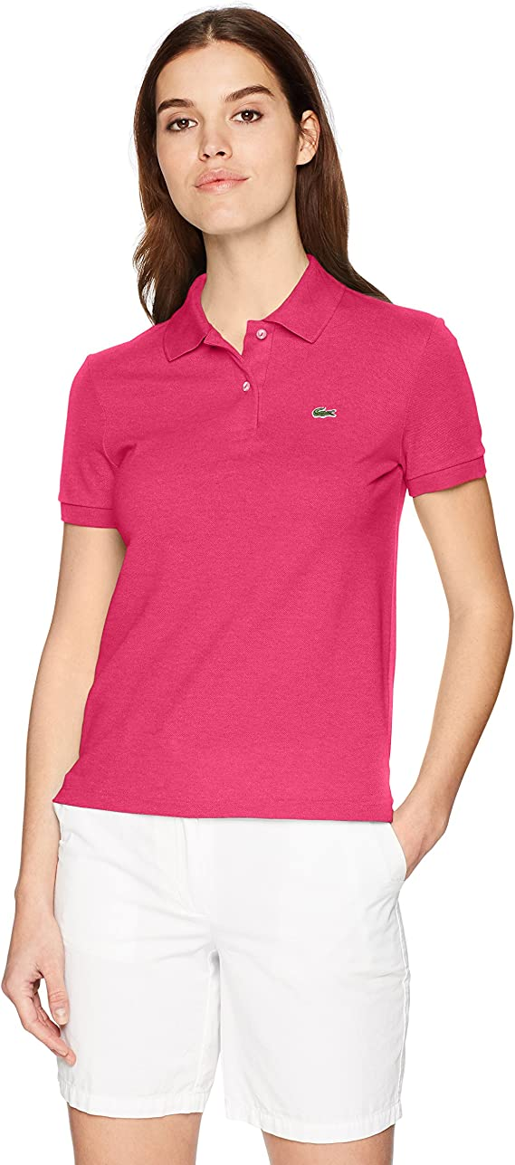 Lacoste Women's Classic Fit Short Sleeve Soft Cotton Petit Piqué Polo best women's golf shirts