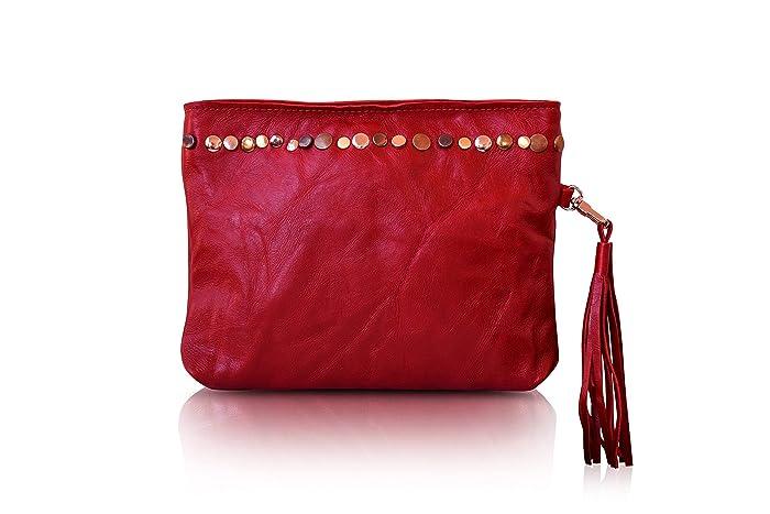 aba434e79a Amazon.com  Red Clutch Bag