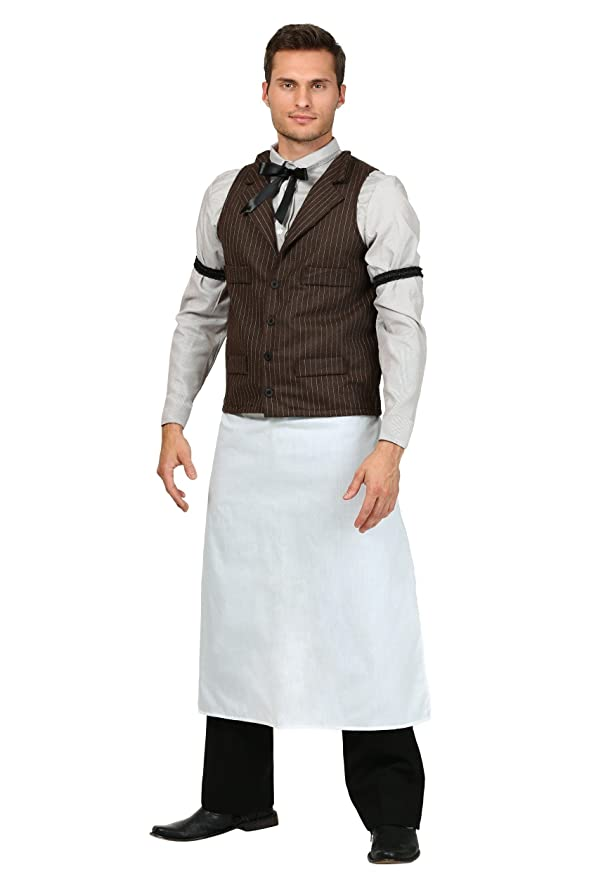 1920s Men's Costumes: Gatsby, Gangster, Peaky Blinders, Mobster, Mafia Adult Old West Bartender Costume $44.99 AT vintagedancer.com